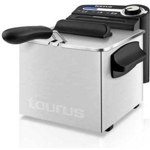 2100W Taurus Fry Time3 Freidora de 3 litros de Capacidad Resistencia sumergida Temporizador de 30 Minutos y regulador de Temperatura